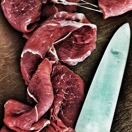 Carne by Franco Tarelli - Food & Drink Meats & Cheeses ( #phonephoto, #chef, #knive, #meat, #red )