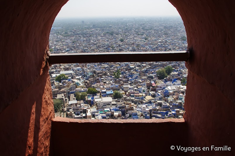Mehrangarh fort, view over Jodhpur