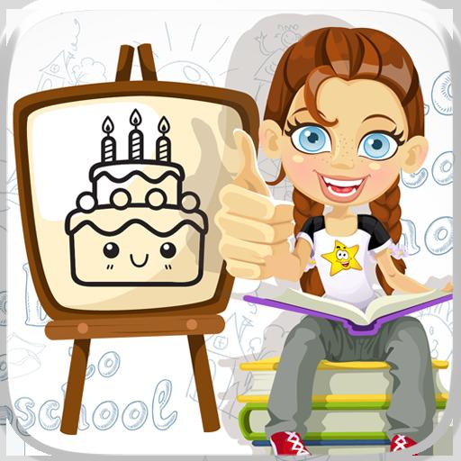 ケーキキャンディColorbook着色ゲーム 教育 App LOGO-硬是要APP