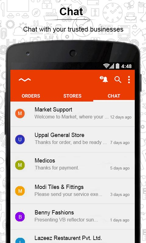MarketApp- screenshot