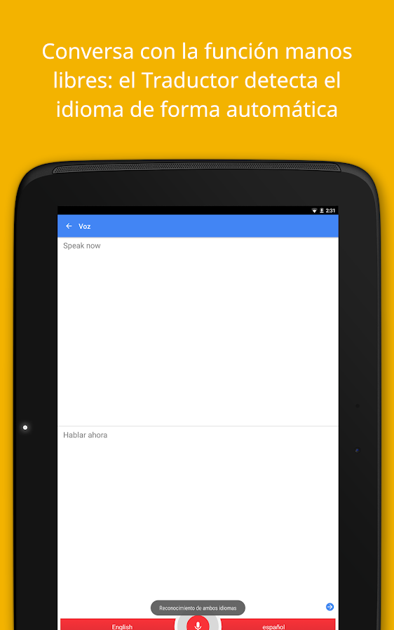Google Traductor- screenshot