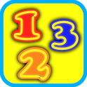 Numbers for kids flashcards icon