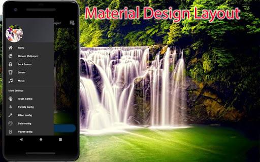 3D Waterfall Wallpaper - Screen Lock, Sensor, Auto ss1