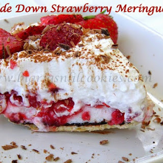 Upside Down Strawberry Meringue Pie