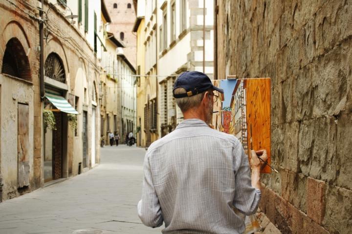 Dipingendo  Lucca di Hanami