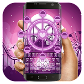 Purple Ferris wheel keyboard
