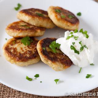 Leek, Potato, and Feta Pancakes