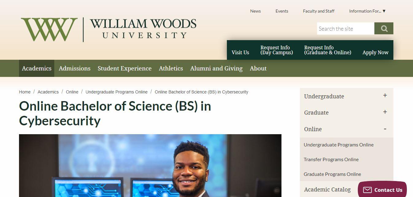 William woods university online cybersecurity degree