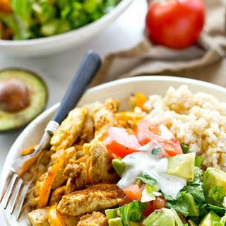 Cajun Chicken Rice Bowls with Avocado Salad Recipe