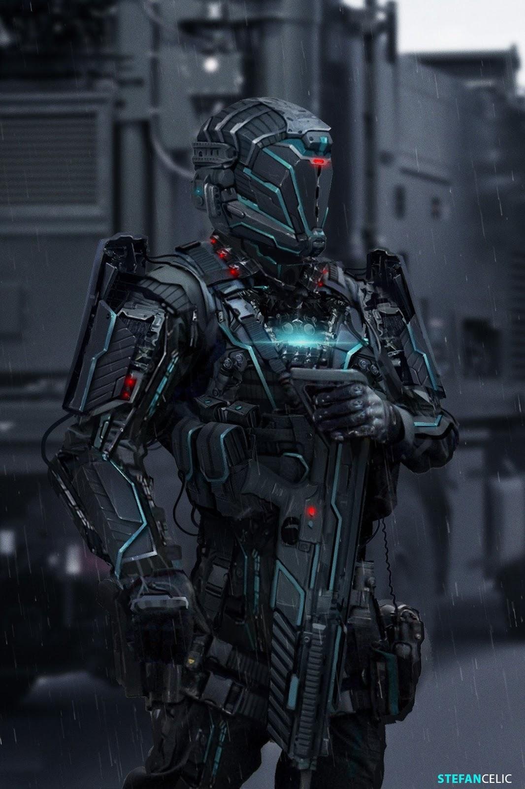"Futuristic Soldier"" by Stefan Celic : ImaginaryRobotics"