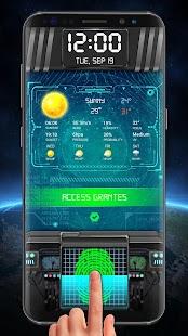 Fingerprint Lock Screen & Weather Clock - náhled