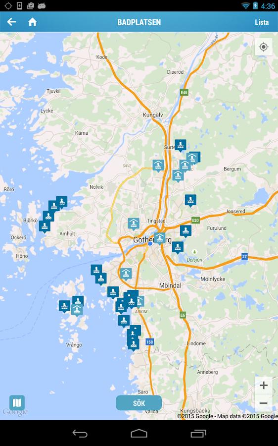 badplatser göteborg karta Badplatsen Göteb– Android Apps on Google Play badplatser göteborg karta