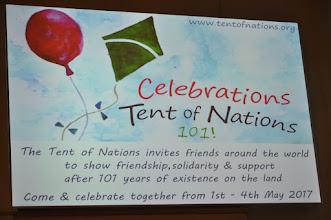 Photo: Dit voorjaar opnieuw een mooie werk- en feestweek op de heuvel van Tent of Nations. Geef je op!