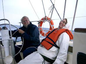 Photo: Jalle ja Sinikka Psych-out purjehduksella v. 2008.