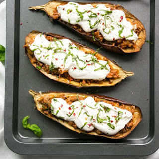 "<span class=""mceItemHidden"" data-mce-bogus=""1""><span></span>Easy Moussaka Stuffed Eggplants</span>"