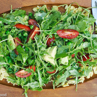 Arugula, Avocado, Rice Salad with Lemon Dijon Dressing