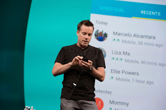 Photo: And Dave Burke gave us a sneak peak of the Android L Developer Preview.  http://developer.android.com/preview/index.html