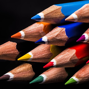 Colored direction by Mario Toth - Artistic Objects Education Objects ( pencil, color, colorful, colors, pencils,  )