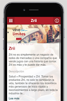 Screenshot of Zrii Latinoamérica