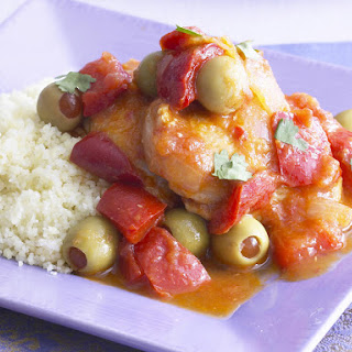 Chicken, Pepper and Olive Casserole.