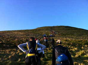 Photo: Going up East Lomond hill