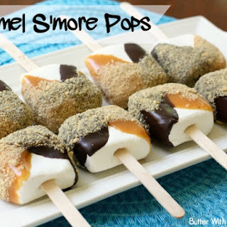 CARAMEL S'MORE POPS.