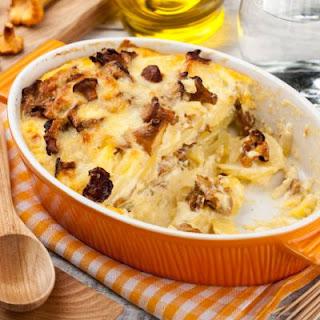 Cheesy Mushroom Potato Casserole Recipe