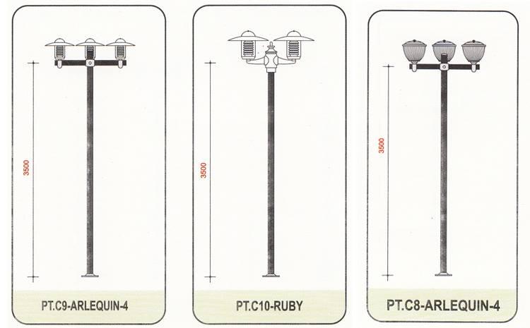 Cột đèn sân vườn Arlequin - 255104