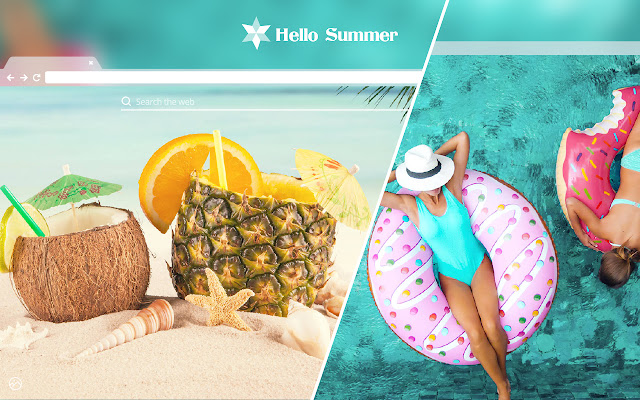 Hello Summer HD Wallpaper New Tab Theme