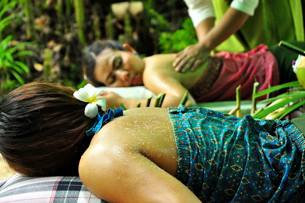 Get a body scrub treatment using fresh ingredients