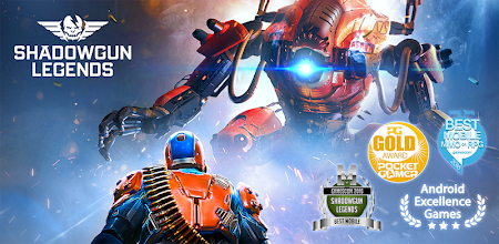 SHADOWGUN LEGENDS - FPS PvP and Coop Shooting Game APK poster