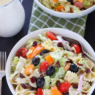 Cranberry Bowtie Pasta Salad.