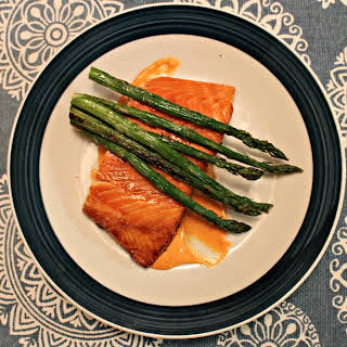 Simple Soy Salmon with Sriracha Mayo.