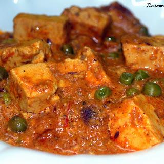 Restaurant Style Matar Paneer