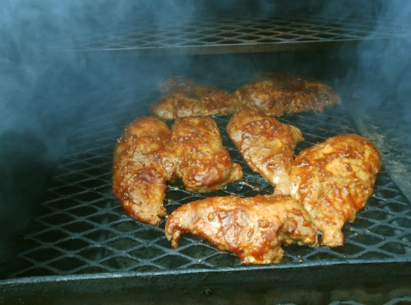 Then I prepared my smoker with charcoal and Maple wood chunks I had soaked...