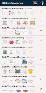 Jesus Christ & Bible Verses Stickers 12.1