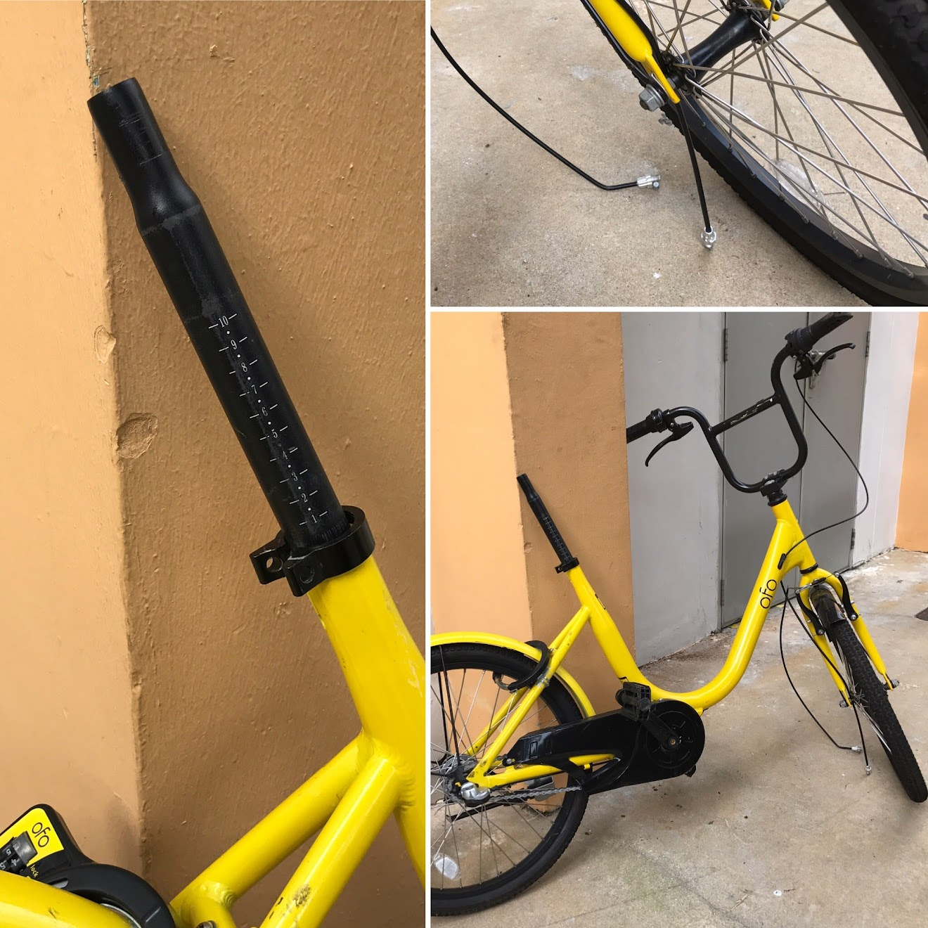 Damaged ofo shared bike.