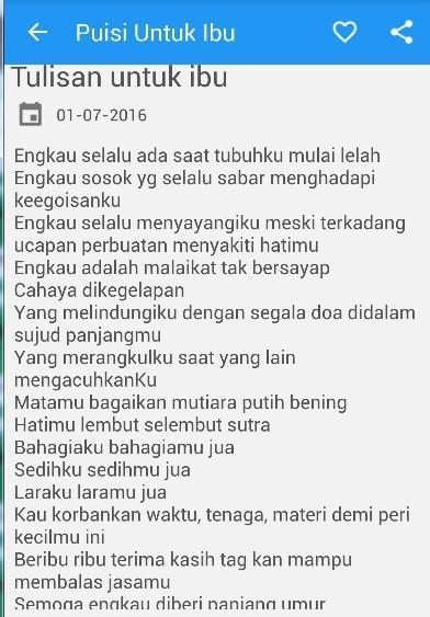 Puisi Ibu Tercinta Screenshot
