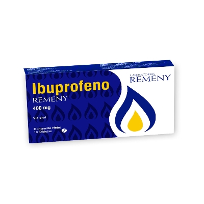 Ibuprofeno Remeny 400 mg x 10 Tabletas