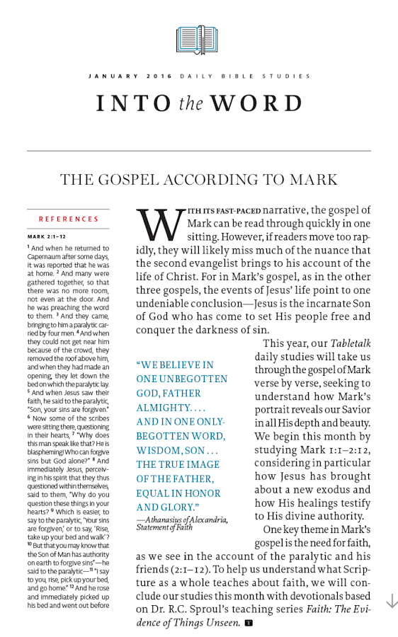 Tabletalk Magazine- screenshot