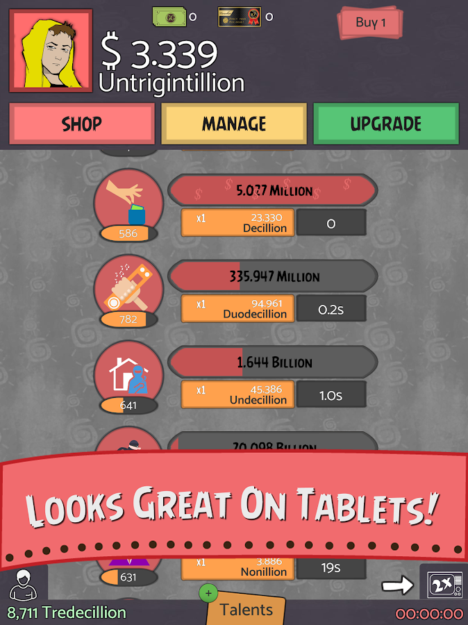 Geeks vs Gangsters - Idle Game- screenshot
