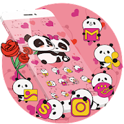 Pink Panda Cute Icons