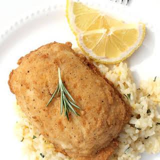 New Barber Foods Chicken Kiev on Fresh Herbed Rice.