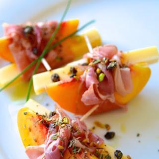 Peach and Prosciutto Bundles