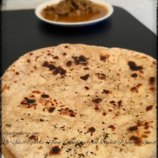 No Yeast Garlic Naan / Indian Flat Bread Without Yeast