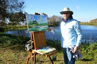 Photo: Tom Ryan painting at Loxahatchee 1-16-14