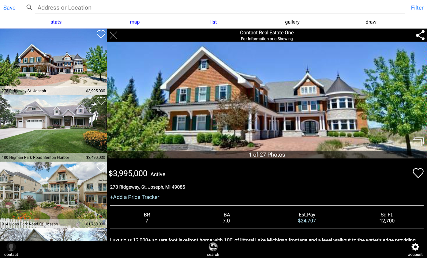 Michigan Real Estate Search- screenshot