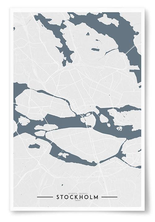 Poster Stockholm Karta