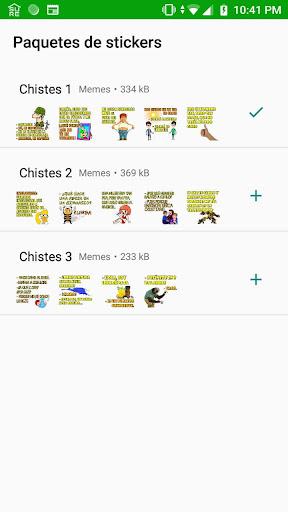 Stickers chistosos WhatsApp - Chistes en español screenshot 2