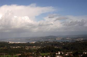 """Photo: Vista xeral de Bergondo e a desenbocadura da ría de Betanzos, dende o edificio de """"Brico King"""", no lugar de Espíritu Santo, parroquia de Lubre (2013)"""